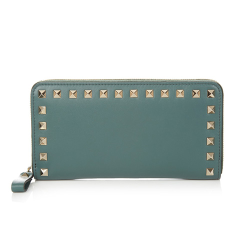 Rockstud large leather wallet