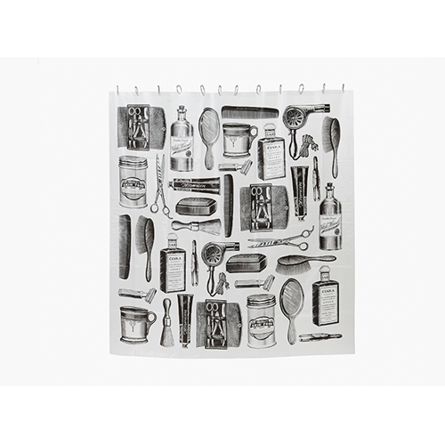 Barbershop Pattern Shower Curtain