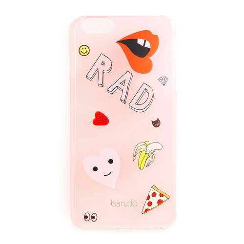 PEEKABOO IPHONE 6 PLUS CASE WITH STICKERS - TRANSLUCENT BLUSH